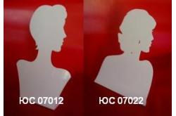 ЮС 07 Подставка для цепочек на 6 видов в виде профиля девушки. Нажмите для подробной информации