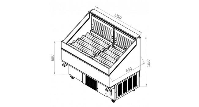 Холодильные и нейтральные витрины Gardena