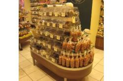 Витрина островная под сладости для магазинов самообслуживания. Нажмите для подробной информации