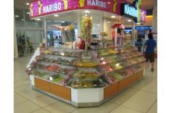 Витрина островная под сладости для торговых центров. Нажмите для подробной информации