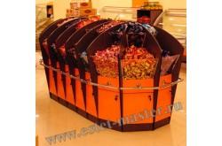 Островная витрина-конфетница для магазинов самообслуживания. Нажмите для подробной информации