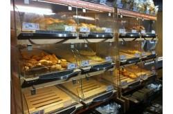 Витрина для свежей выпечки для отделов пекарни в универсамах. Нажмите для подробной информации